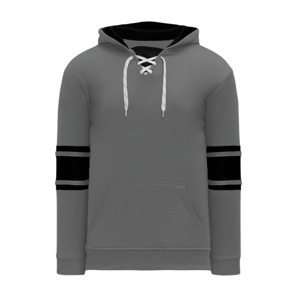 Athletic Knit (AK) A1845 Heather Charcoal Grey/Black Apparel Sweatshirt