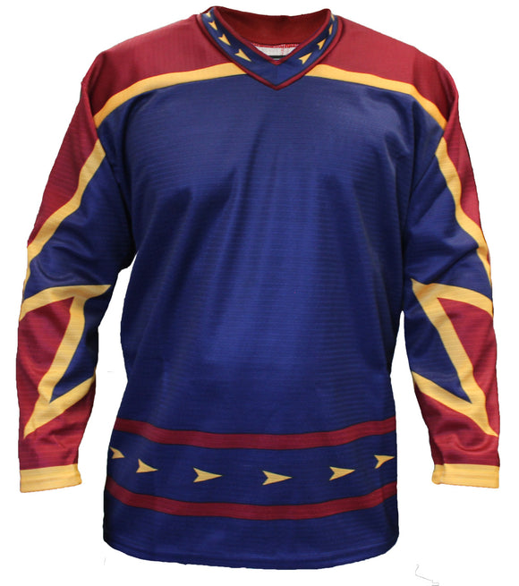 SP Apparel League Series Atlanta Thrashers Navy Sublimated Hockey Jersey - PSH Sports