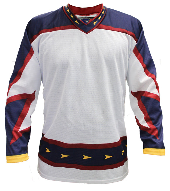 SP Apparel League Series Atlanta Thrashers White Sublimated Hockey Jersey - PSH Sports