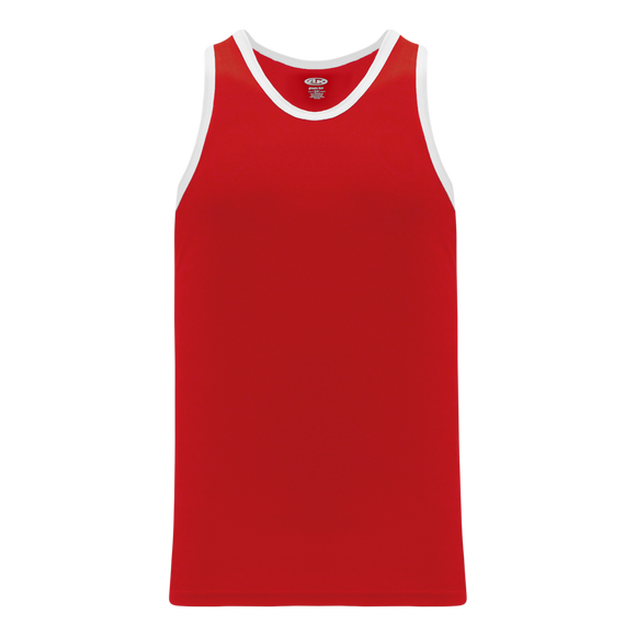Athletic Knit (AK) B1325-208 Red/White League Basketball Jersey
