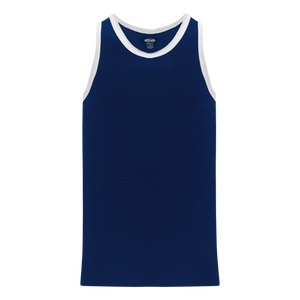 Athletic Knit (AK) B1325 Navy/White League Basketball Jersey