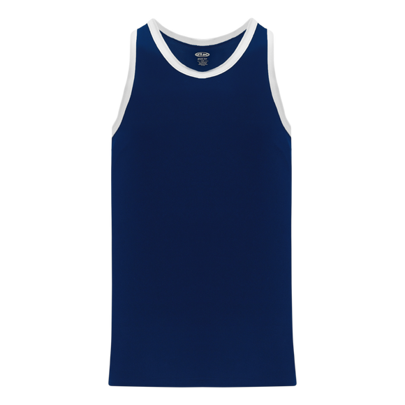 Athletic Knit (AK) B1325-216 Navy/White League Basketball Jersey