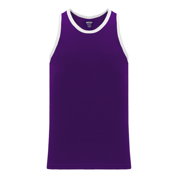 Athletic Knit (AK) B1325-220 Purple/White League Basketball Jersey