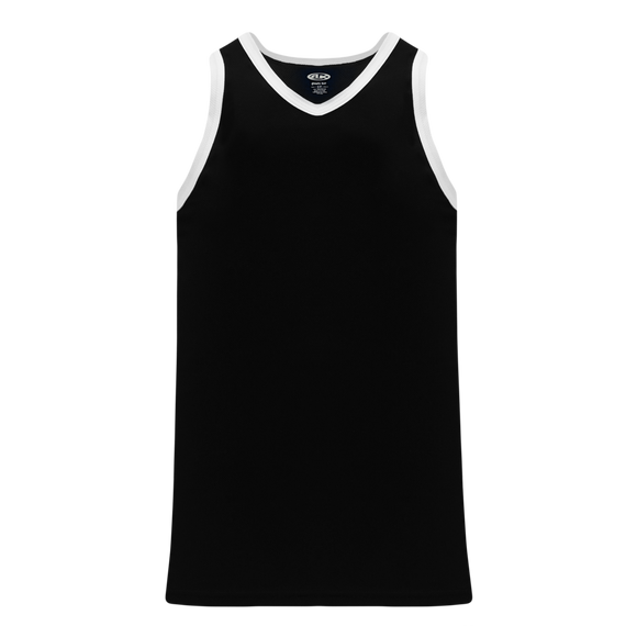 Athletic Knit (AK) B1325-221 Black/White League Basketball Jersey