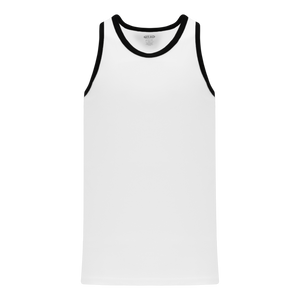 Athletic Knit (AK) B1325-222 White/Black League Basketball Jersey
