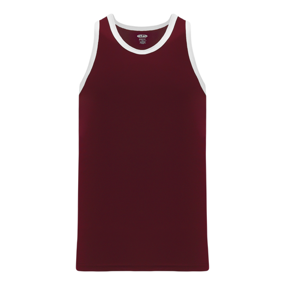 Athletic Knit (AK) B1325-233 Maroon/White League Basketball Jersey