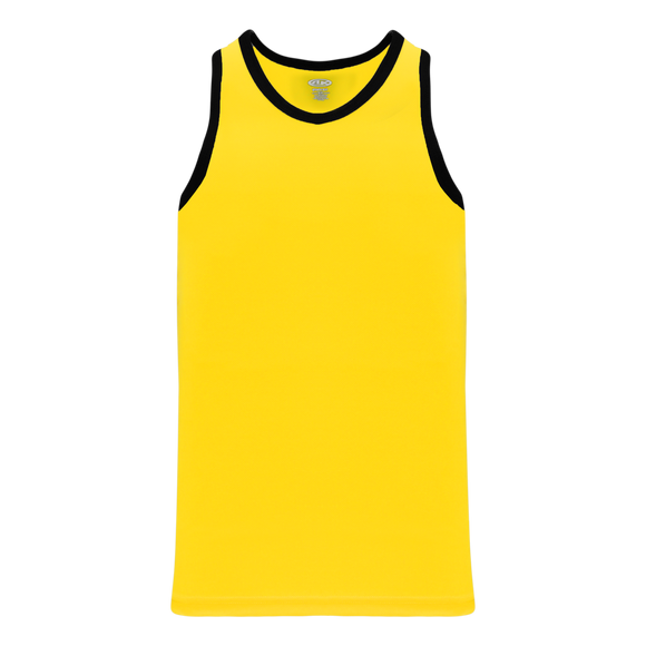 Athletic Knit (AK) B1325-254 Maize/Black League Basketball Jersey