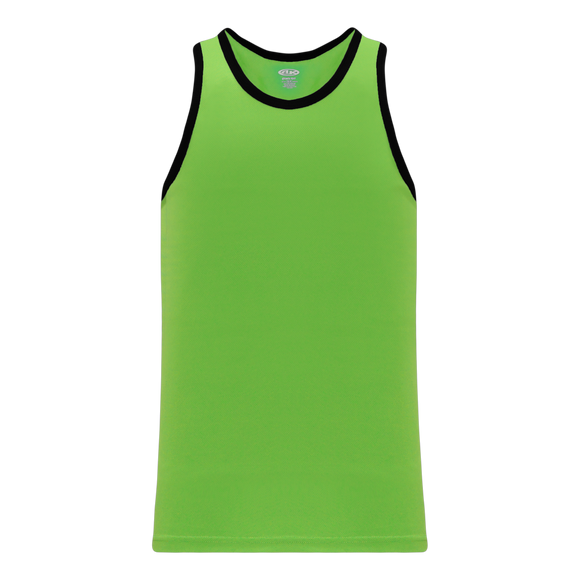 Athletic Knit (AK) B1325-269 Lime Green/Black League Basketball Jersey