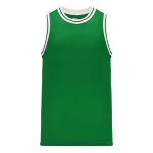 Athletic Knit (AK) B1710-210 Kelly Green/White Pro Basketball Jersey