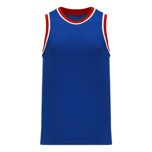 Athletic Knit (AK) B1710-333 Royal Blue/Red/White Pro Basketball Jersey