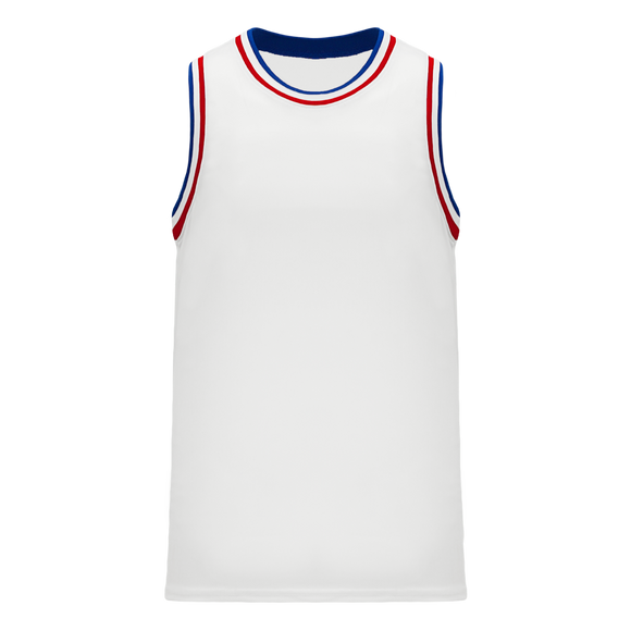 Athletic Knit (AK) B1710-335 White/Royal Blue/Red Pro Basketball Jersey