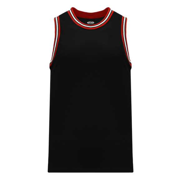 Athletic Knit (AK) B1710-348 Black/Red/White Pro Basketball Jersey