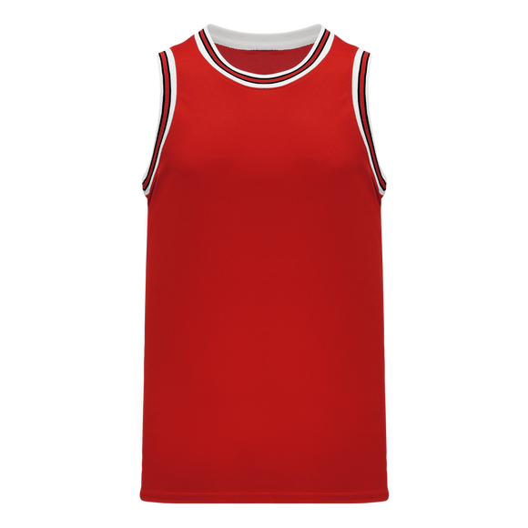 Athletic Knit (AK) B1710-414 Red/White/Black Pro Basketball Jersey