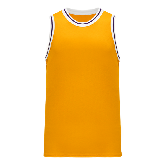 Athletic Knit (AK) B1710-435 Gold/White/Purple Pro Basketball Jersey