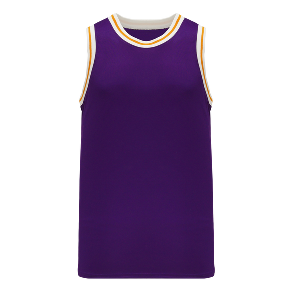 Athletic Knit (AK) B1710-441 Purple/White/Gold Pro Basketball Jersey
