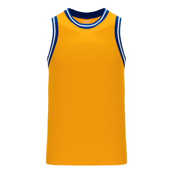 Athletic Knit (AK) B1710-451 Gold/Royal Blue/White Pro Basketball Jersey