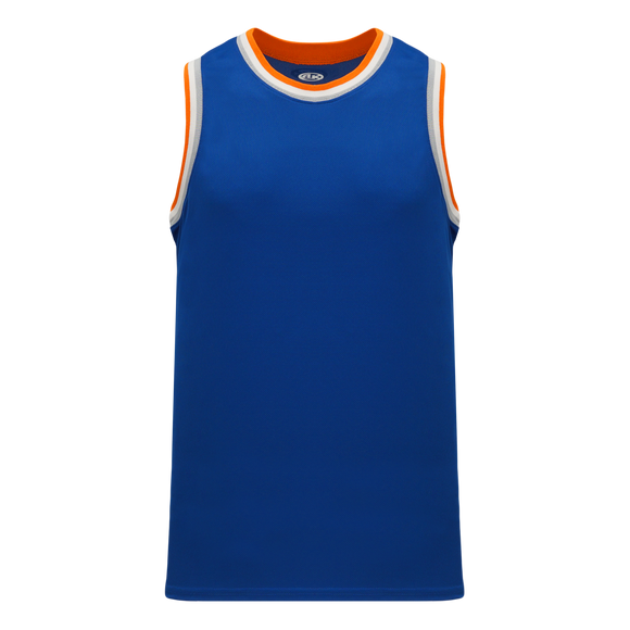 Athletic Knit (AK) B1710-485 Royal Blue/Orange/White/Grey Pro Basketball Jersey