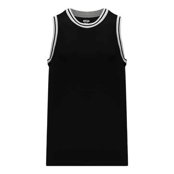 Athletic Knit (AK) B1710 Black/Grey/White Pro Basketball Jersey