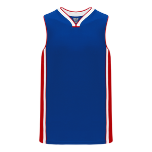 Athletic Knit (AK) B1715-333 Royal Blue/Red/White Pro Basketball Jersey