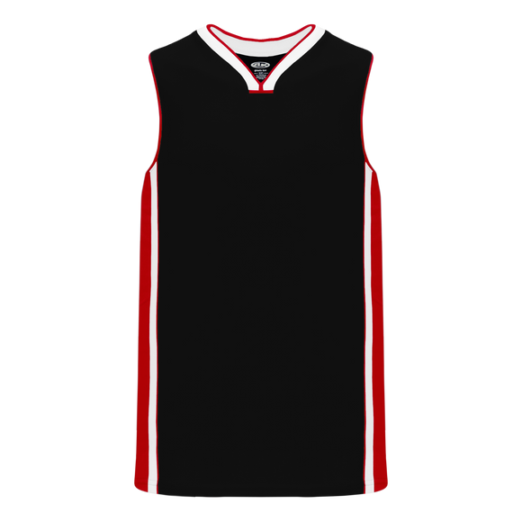 Athletic Knit (AK) B1715-348 Black/Red/White Pro Basketball Jersey
