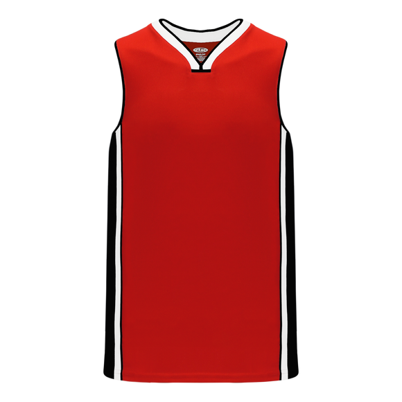 Athletic Knit (AK) B1715-414 Red/Black/White Pro Basketball Jersey