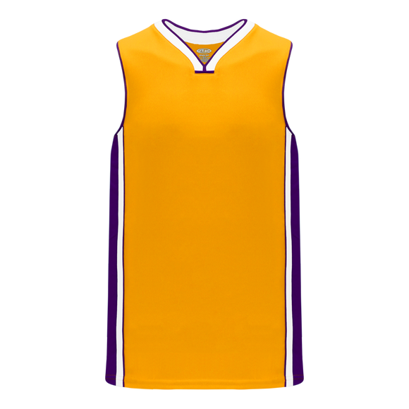 Athletic Knit (AK) B1715-435 Gold/Purple/White Pro Basketball Jersey
