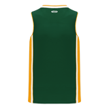 Athletic Knit (AK) B1715 Dark Green/Gold/White Pro Basketball Jersey