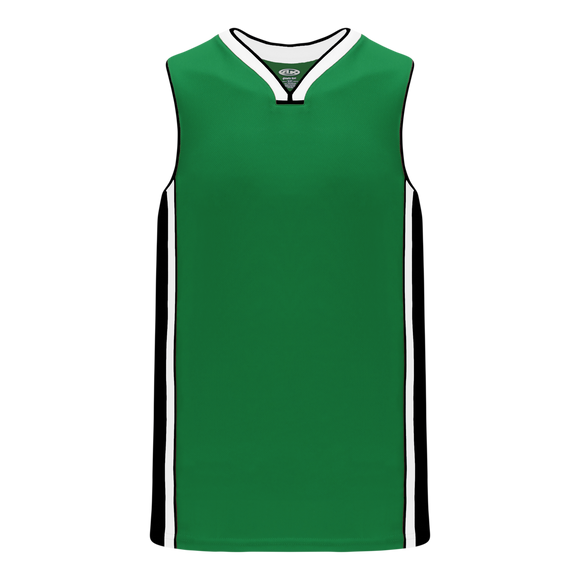 Athletic Knit (AK) B1715-440 Kelly Green/Black/White Pro Basketball Jersey