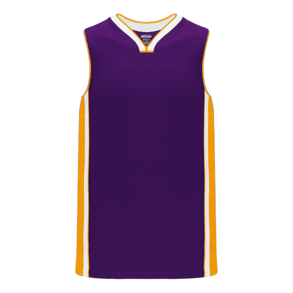 Athletic Knit (AK) B1715-441 Purple/Gold/White Pro Basketball Jersey