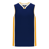 Athletic Knit (AK) B1715 Navy/Gold/White Pro Basketball Jersey