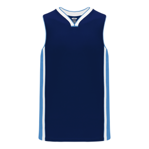 Athletic Knit (AK) B1715 Navy/Sky Blue/White Pro Basketball Jersey