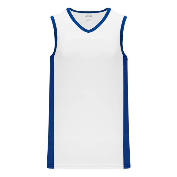 Athletic Knit (AK) B2115-207 White/Royal Blue Pro Basketball Jersey