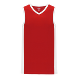 Athletic Knit (AK) B2115-208 Red/White Pro Basketball Jersey