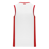 Athletic Knit (AK) B2115 White/Red Pro Basketball Jersey