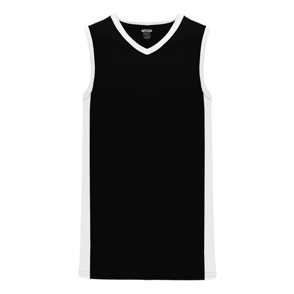 Athletic Knit (AK) B2115-221 Black/White Pro Basketball Jersey