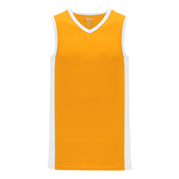 Athletic Knit (AK) B2115-236 Gold/White Pro Basketball Jersey
