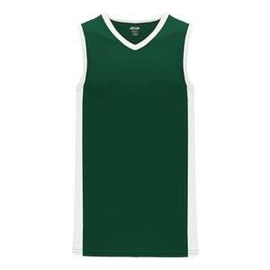 Athletic Knit (AK) B2115-260 Dark Green/White Pro Basketball Jersey
