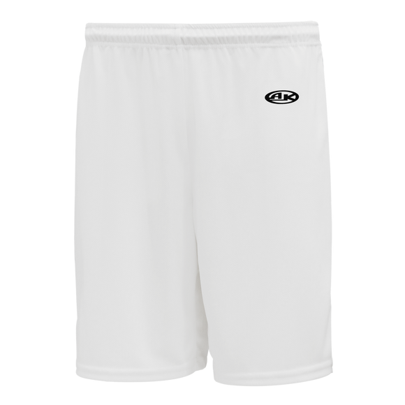 Athletic Knit (AK) BAS1300 White Baseball Shorts