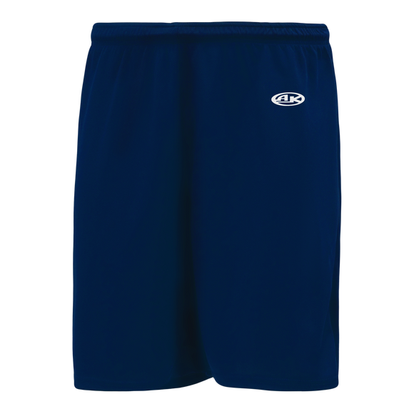 Athletic Knit (AK) BAS1300-004 Navy Baseball Shorts