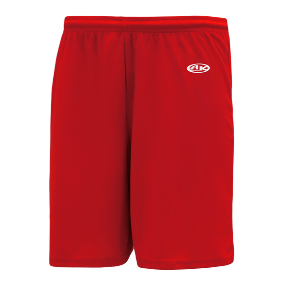 Athletic Knit (AK) BAS1300-005 Red Baseball Shorts