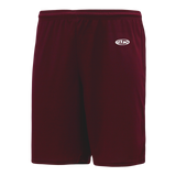 Athletic Knit (AK) BAS1300M-009 Mens Maroon Baseball Shorts