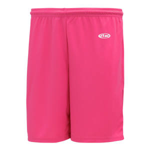 Athletic Knit (AK) BAS1300 Pink Baseball Shorts