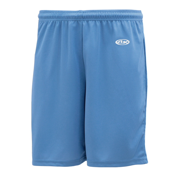 Athletic Knit (AK) BAS1300 Sky Blue Baseball Shorts