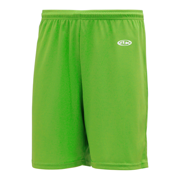 Athletic Knit (AK) BAS1300Y-031 Youth Lime Green Baseball Shorts