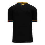 Athletic Knit (AK) BA1333 Black/Gold Pullover Baseball Jersey
