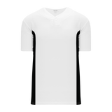 Athletic Knit (AK) BA1343 White/Black One-Button Baseball Jersey