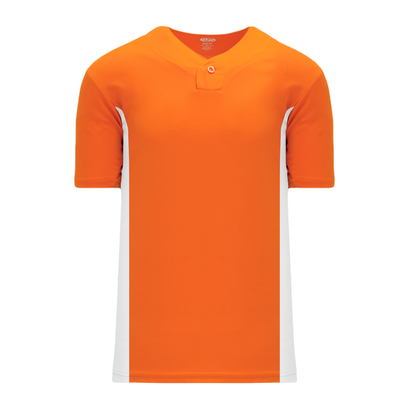 Athletic Knit (AK) BA1343Y-238 Youth Orange/White One-Button Baseball Jersey