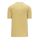 Athletic Knit (AK) BA1344A-280 Adult Vegas Gold/White Two-Button Baseball Jersey