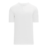 Athletic Knit (AK) BA1347-000 White Two-Button Baseball Jersey