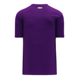 Athletic Knit (AK) BA1347 Purple Two-Button Baseball Jersey